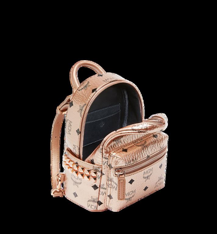 MCM Stark Bebe Boo Backpack in Visetos MMK8AVE50TC001 AlternateView7