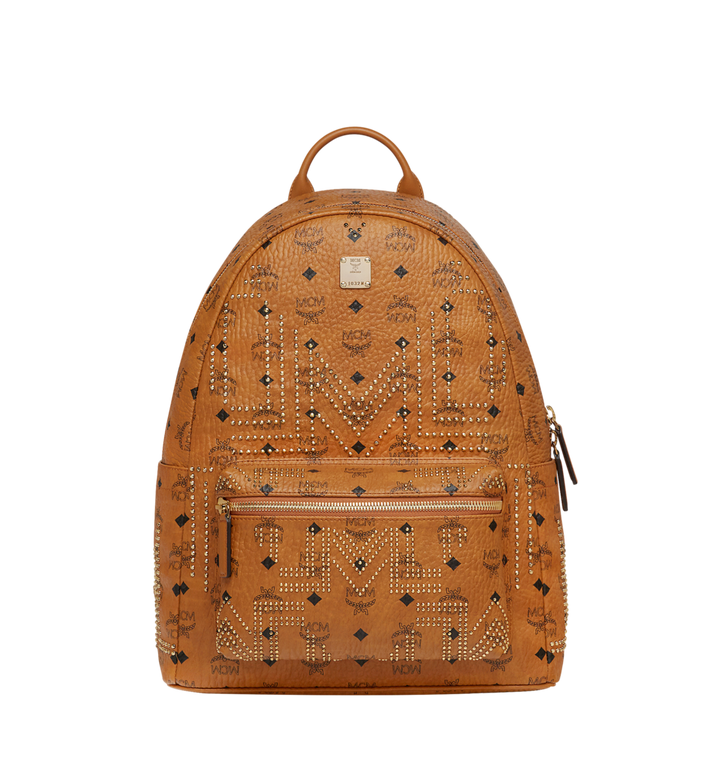 MCM Stark Backpack in Gunta M Studs Visetos Alternate View