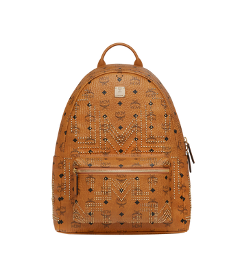 MCM Stark Backpack in Gunta M Studs Visetos Alternate View 1