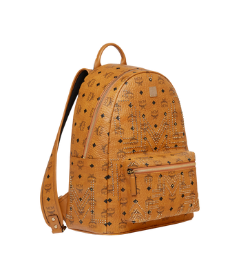 MCM Stark Backpack in Gunta M Studs Visetos Alternate View 2