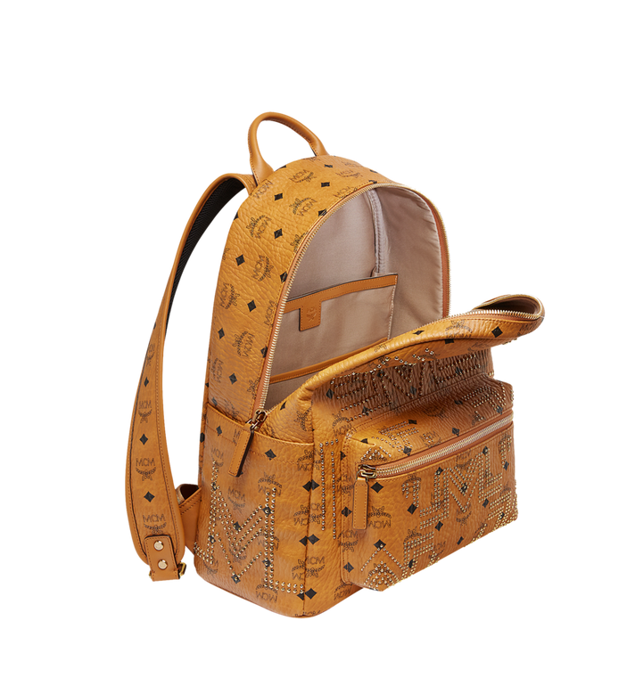 MCM Stark Backpack in Gunta M Studs Visetos MMK8AVE55CO001 AlternateView5