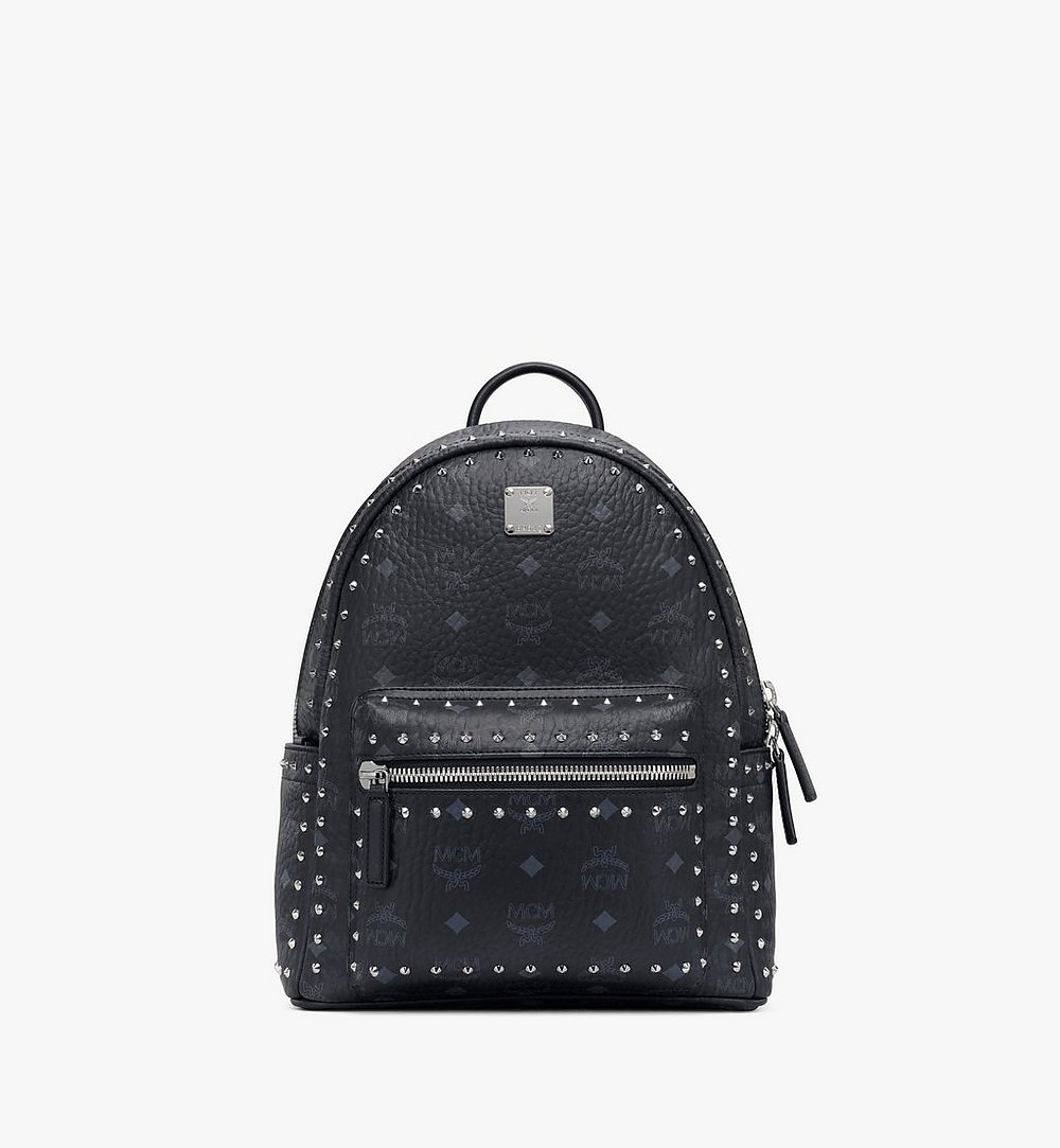 MCM Stark Backpack in Studded Outline Visetos Black MMK8AVE61BK001 Alternate View 1