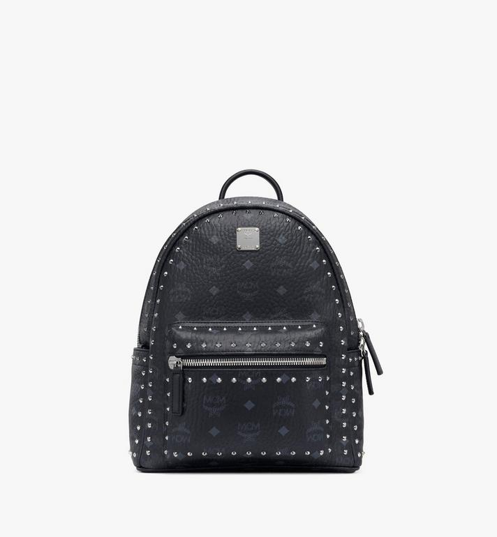 MCM Stark Backpack in Studded Outline Visetos MMK8AVE61BK001 AlternateView