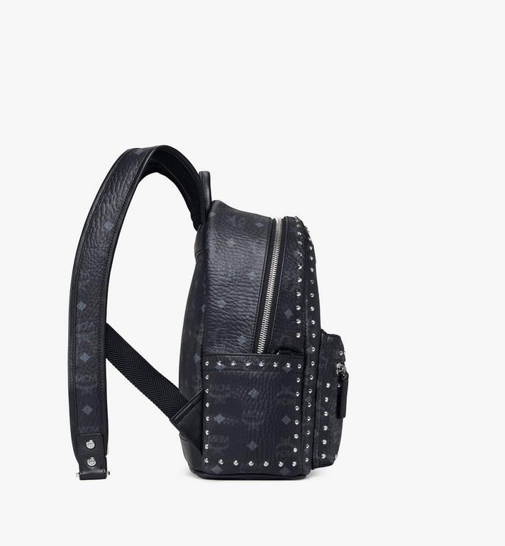 MCM Stark Backpack in Studded Outline Visetos MMK8AVE61BK001 AlternateView2
