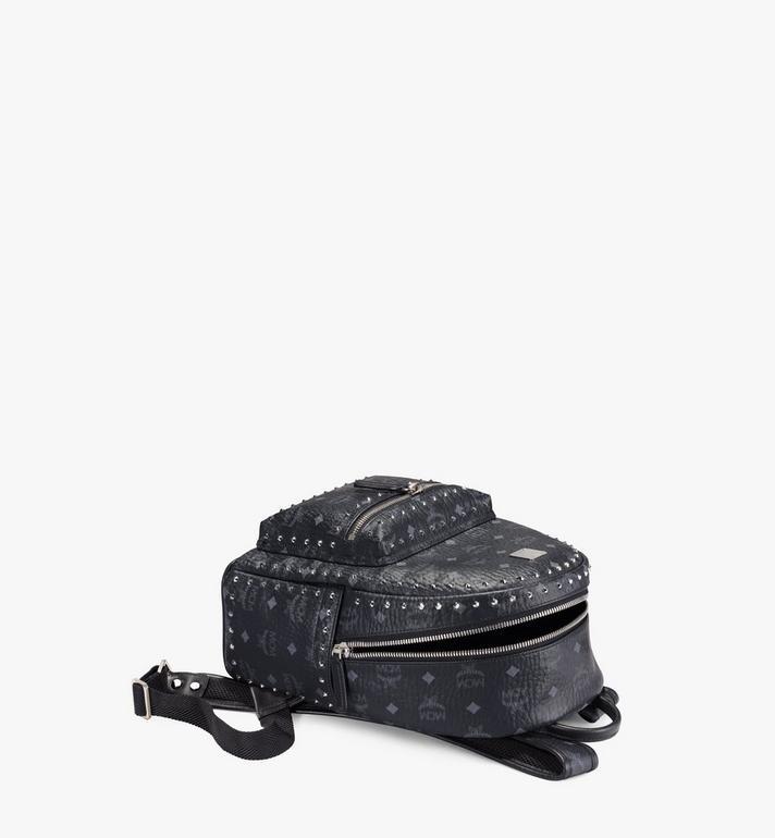 MCM Stark Backpack in Studded Outline Visetos MMK8AVE61BK001 AlternateView3
