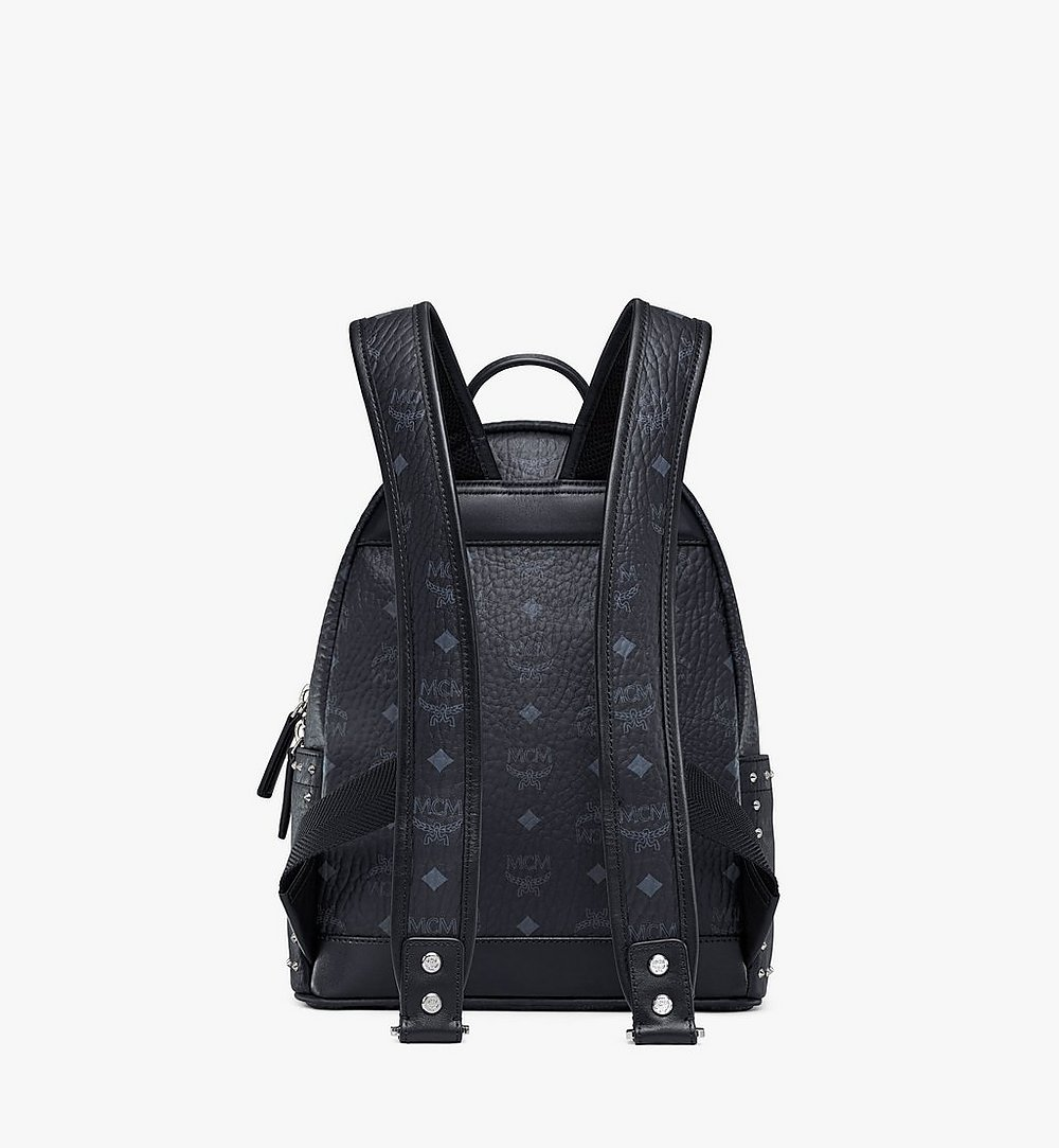 MCM Stark Backpack in Studded Outline Visetos Black MMK8AVE61BK001 Alternate View 3