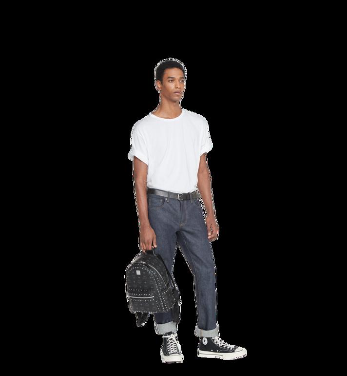 MCM Stark Backpack in Studded Outline Visetos Black MMK8AVE61BK001 Alternate View 6