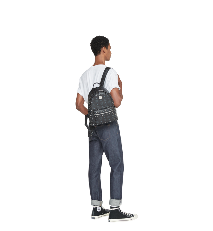 MCM Stark Backpack in Studded Outline Visetos  MMK8AVE61BK001 Alternate View 7