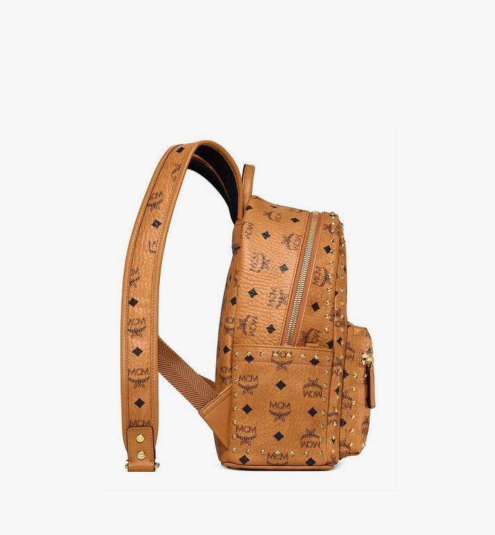MCM Stark Backpack in Studded Outline Visetos Cognac MMK8AVE61CO001 Alternate View 2