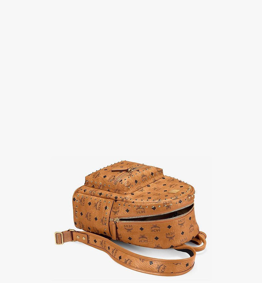MCM Stark Backpack in Studded Outline Visetos Cognac MMK8AVE61CO001 Alternate View 2