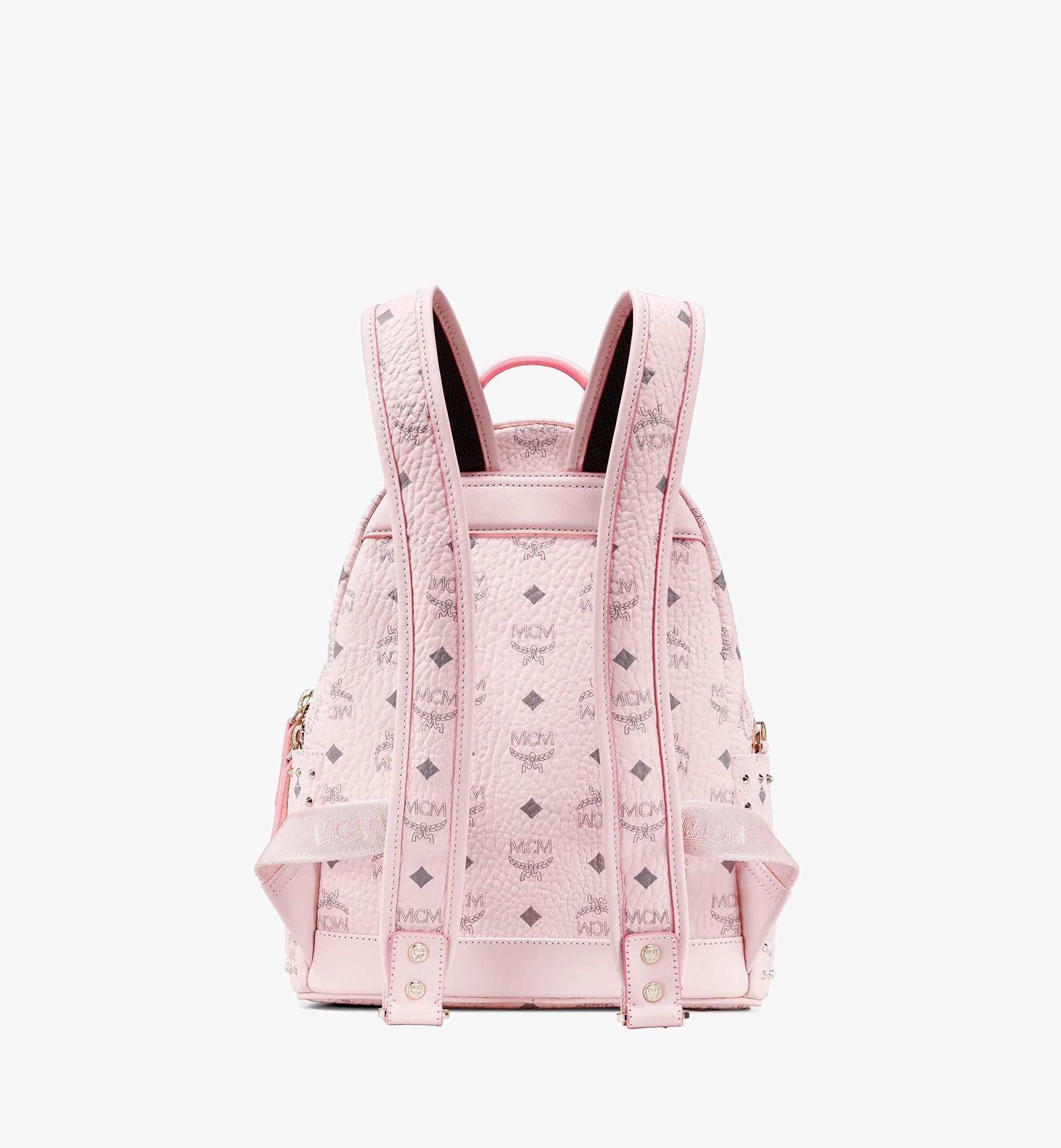 MCM Visetos 皮革的 Stark 鉚釘後背包 Pink MMK8AVE61QH001 更多視圖 2