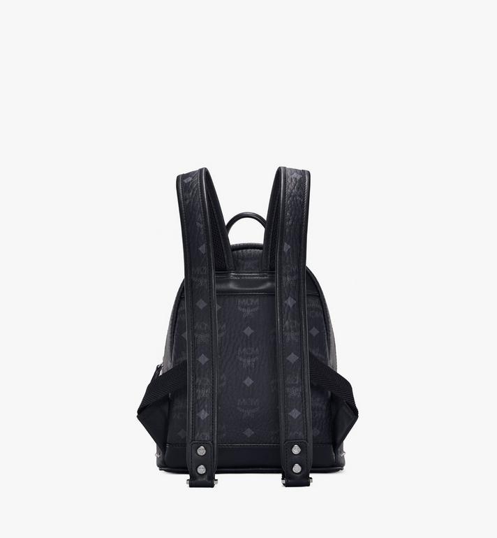 MCM Stark Backpack in Studded Outline Visetos Black MMK8AVE62BK001 Alternate View 4