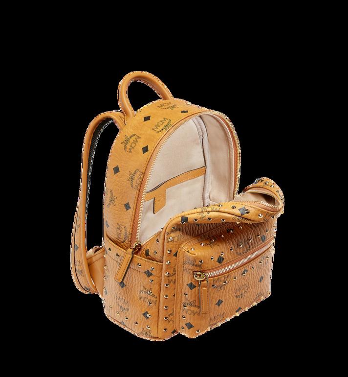 MCM Stark Backpack in Studded Outline Visetos Cognac MMK8AVE62CO001 Alternate View 5