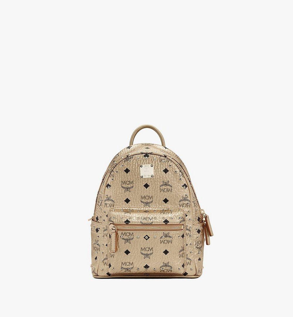 MCM Stark Backpack in Studded Visetos Gold MMK8AVE66T1001 Alternate View 1