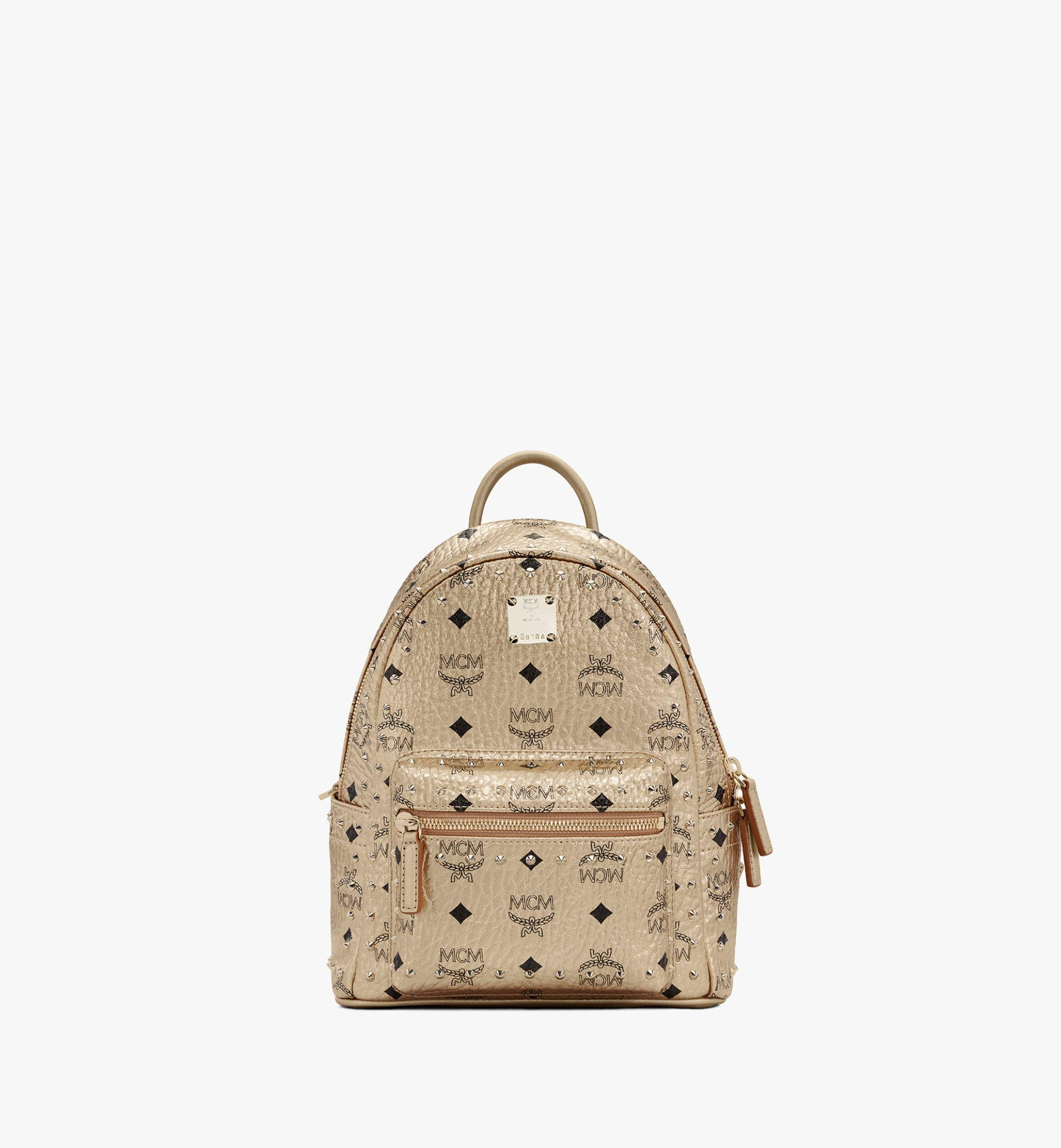 MCM Stark Backpack in Studded Visetos Gold MMK8AVE66T1001 Alternate View 1