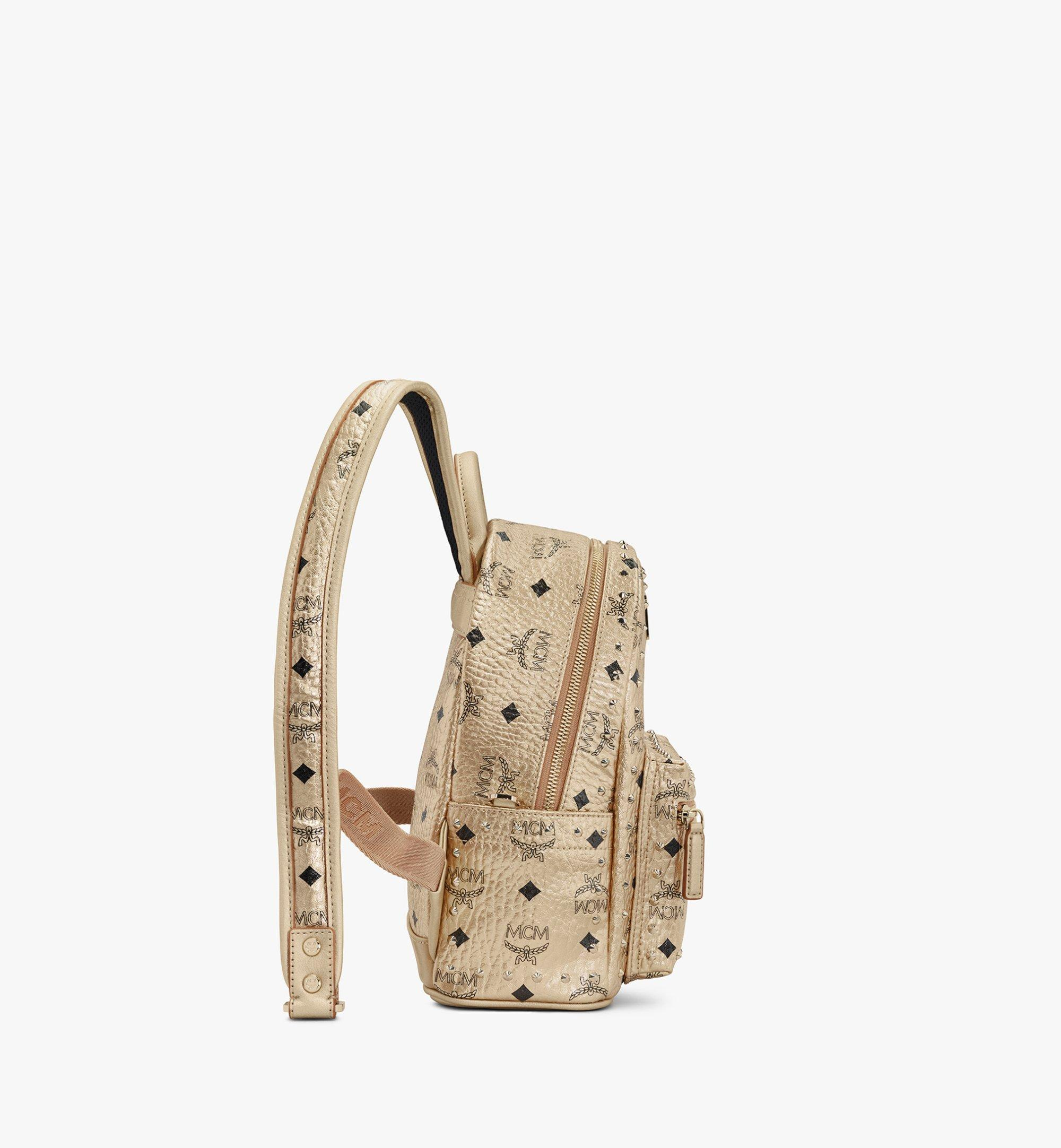 MCM Stark Backpack in Studded Visetos Gold MMK8AVE66T1001 Alternate View 2