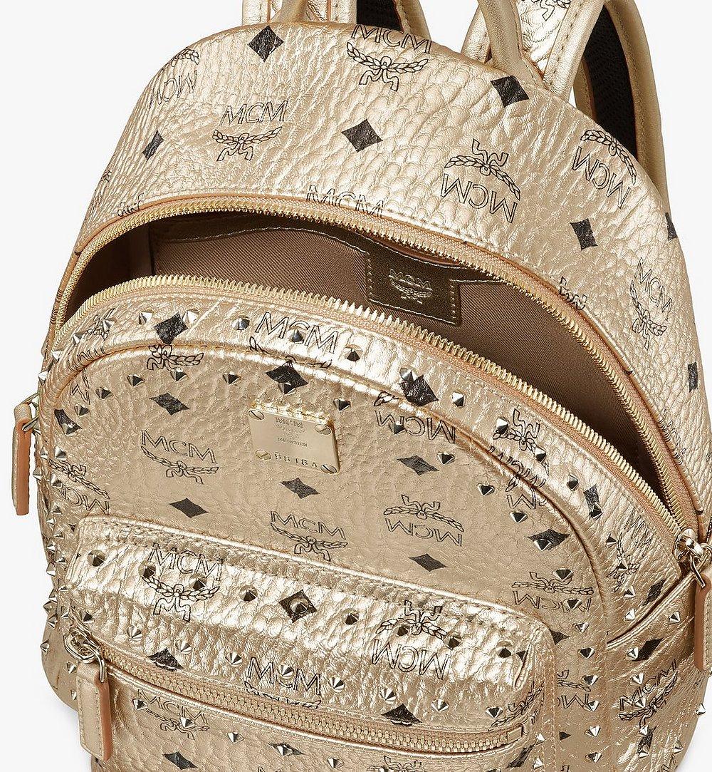 MCM Stark Backpack in Studded Visetos Gold MMK8AVE66T1001 Alternate View 3