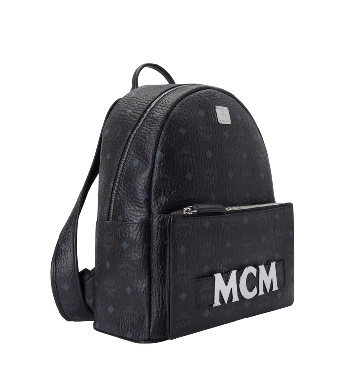 MCM Trilogie Stark Backpack in Visetos MMK8AVE72BK001 AlternateView2