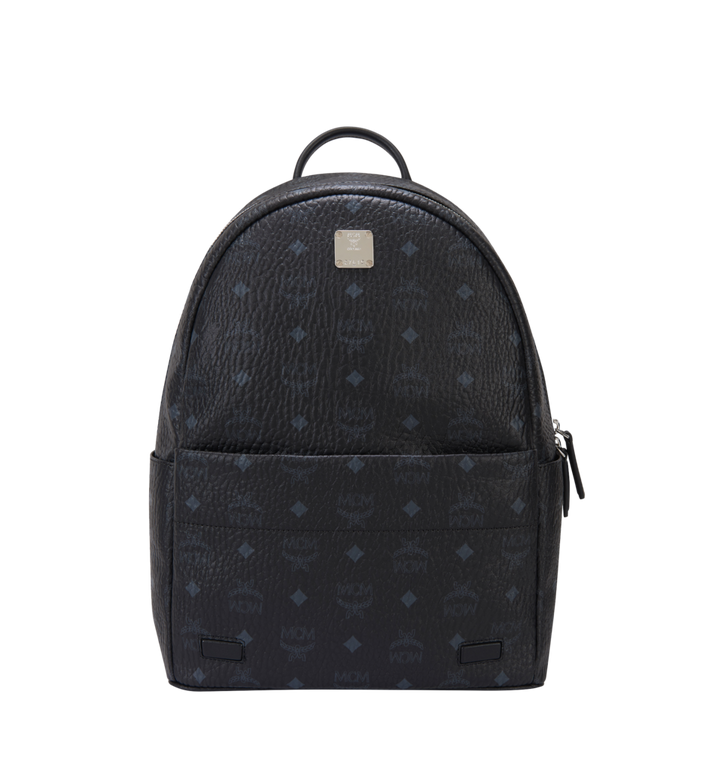 MCM Trilogie Stark Backpack in Visetos MMK8AVE72BK001 AlternateView5