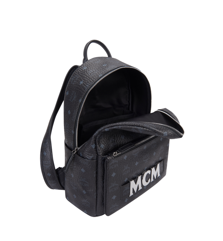 MCM Trilogie Stark Backpack in Visetos MMK8AVE72BK001 AlternateView7