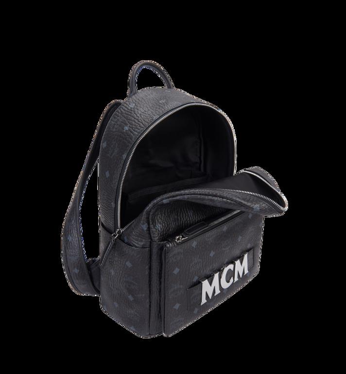 MCM Trilogie Stark Backpack in Visetos  MMK8AVE72BK001 Alternate View 7