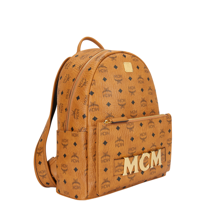 MCM Trilogie Stark Backpack in Visetos MMK8AVE72CO001 AlternateView2