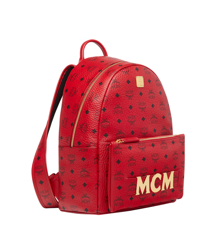 MCM (MCM)RED Trilogie Stark Backpack in Visetos MMK8AVE72RU001 AlternateView2