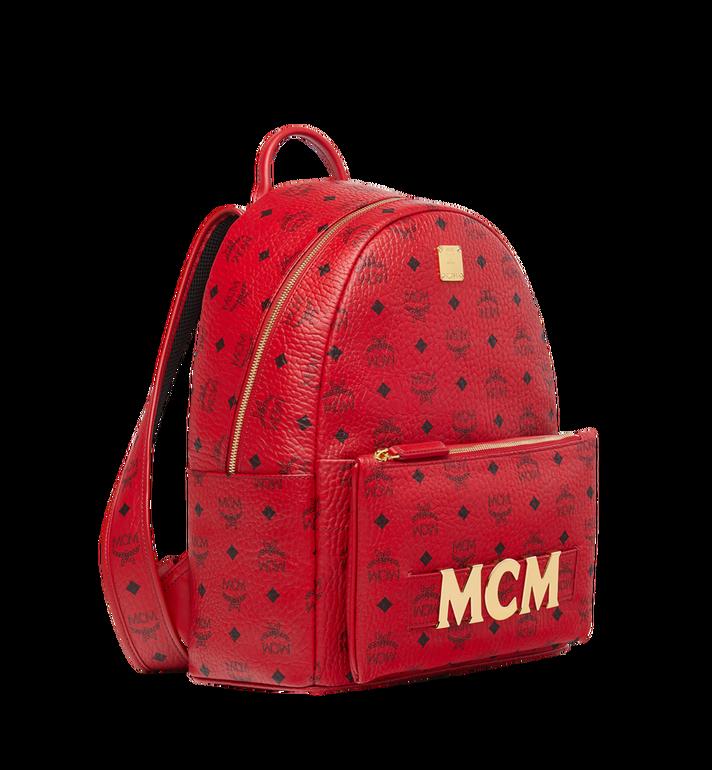 MCM (MCM)RED Trilogie Stark Backpack in Visetos Alternate View 2