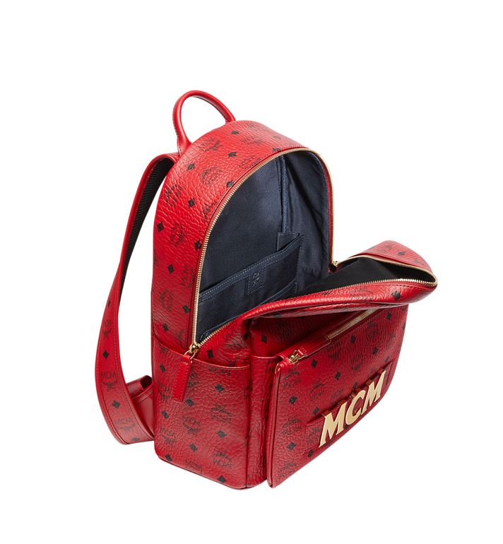MCM (MCM)RED Trilogie Stark Backpack in Visetos MMK8AVE72RU001 AlternateView7