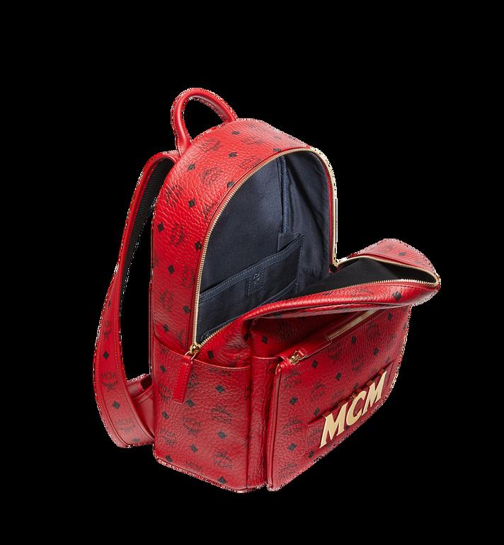 MCM (MCM)RED Trilogie Stark Backpack in Visetos Alternate View 7