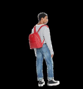 MCM (MCM)RED Trilogie Stark Backpack in Visetos Alternate View 8