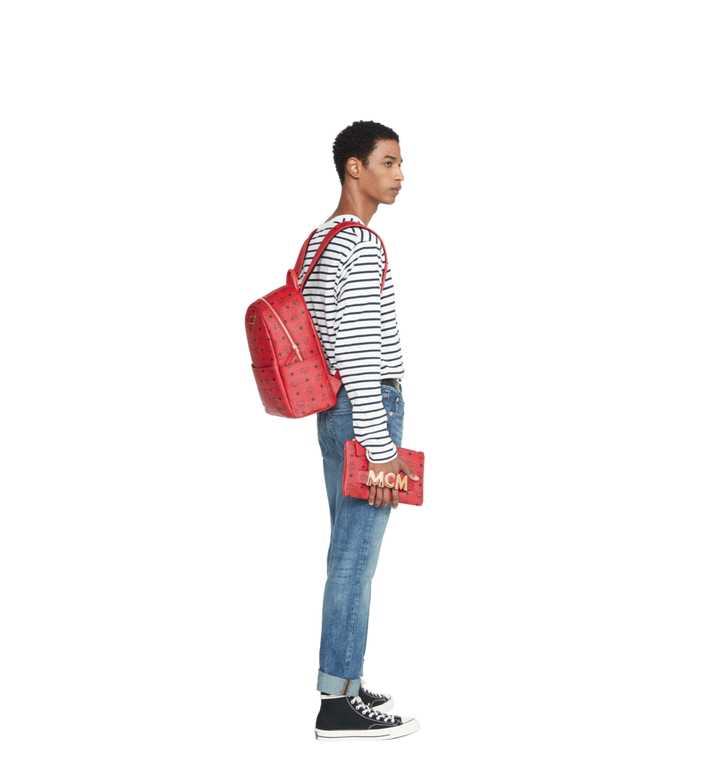 MCM (MCM)RED Trilogie Stark Backpack in Visetos MMK8AVE72RU001 AlternateView9