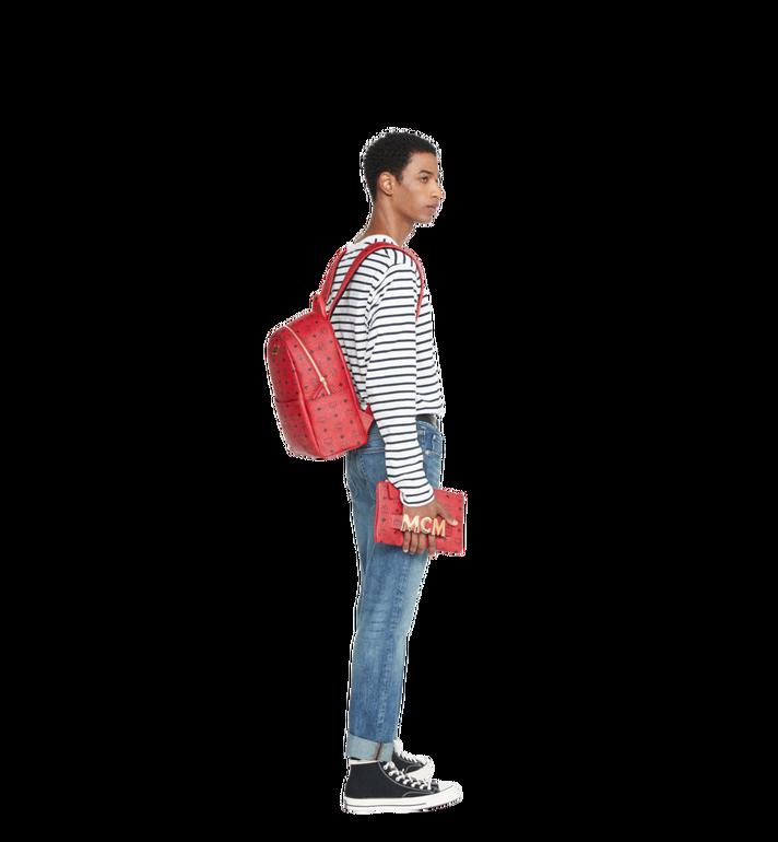 MCM (MCM)RED Trilogie Stark Backpack in Visetos Alternate View 9