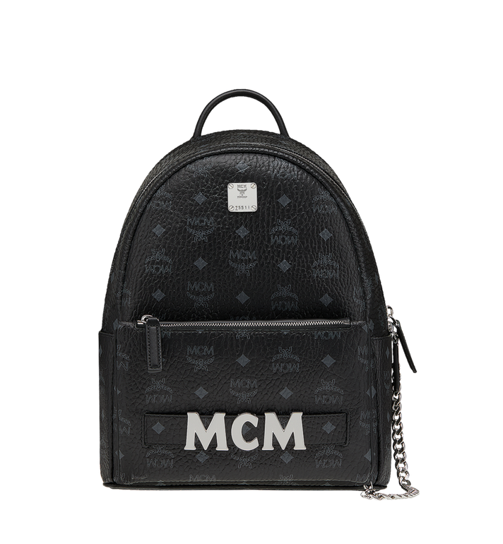 MCM Trilogie Stark Backpack in Visetos MMK8AVE83BK001 AlternateView