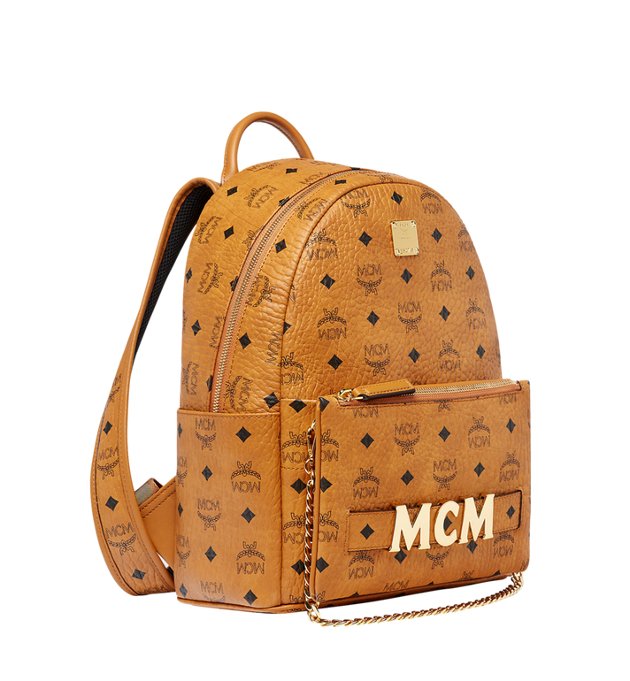MCM Trilogie Stark Backpack in Visetos MMK8AVE83CO001 AlternateView2