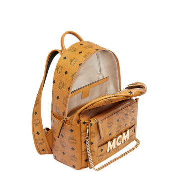MCM Trilogie Stark Backpack in Visetos MMK8AVE83CO001 AlternateView7