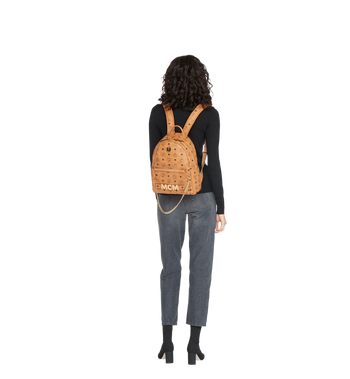 MCM Trilogie Stark Backpack in Visetos Alternate View 12