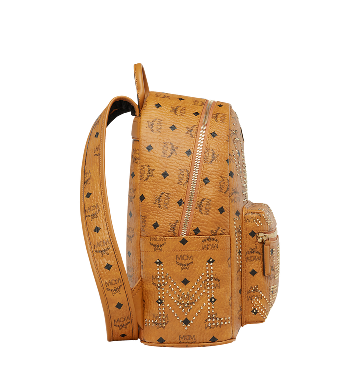 MCM Stark Backpack in Gunta M Studs Visetos MMK8AVE89CO001 AlternateView3