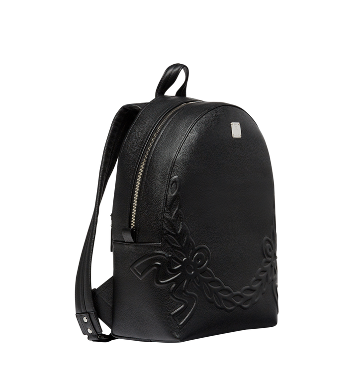 MCM Dietrich Laurel Backpack in Leather MMK8SDI06BK001 AlternateView2