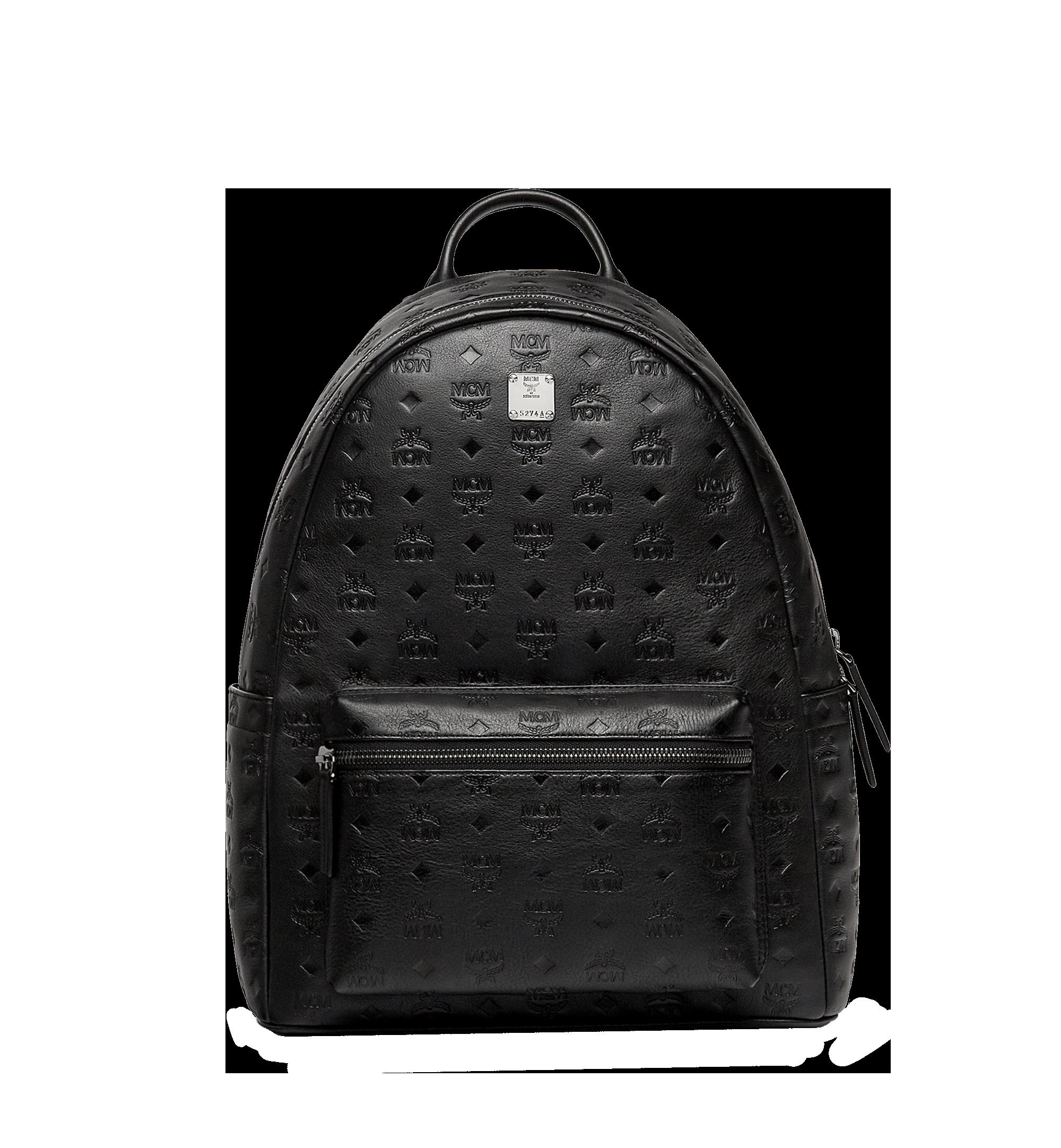 40 Cm 16 In Stark Backpack In Monogram Leather Black Mcm Nl