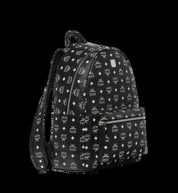 MCM Stark White Logo Backpack in Visetos AlternateView2