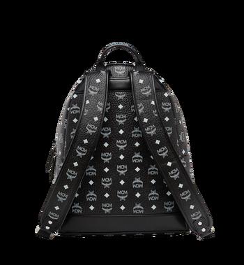 MCM Stark White Logo Backpack in Visetos AlternateView4