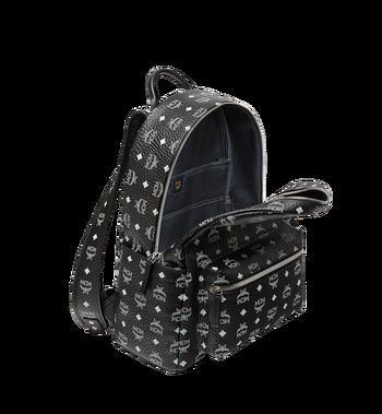 MCM Stark White Logo Backpack in Visetos AlternateView5