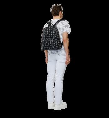 MCM Stark White Logo Backpack in Visetos AlternateView6