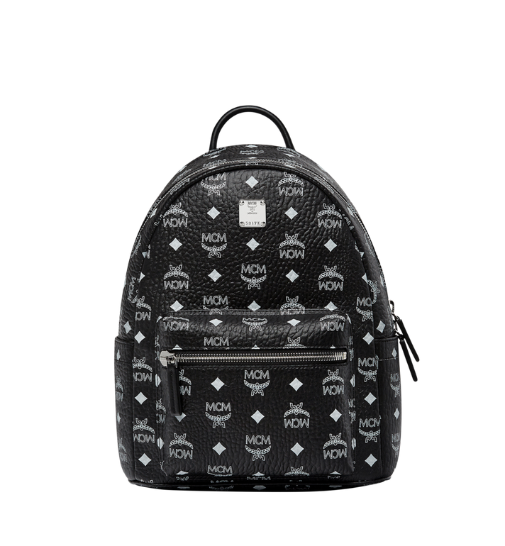 MCM Stark White Logo Backpack in Visetos MMK8SVE49BV001 AlternateView