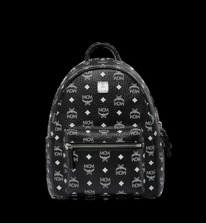 MCM Stark White Logo Backpack in Visetos Alternate View