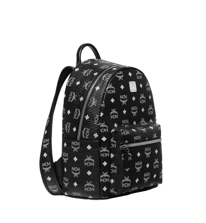 MCM Stark White Logo Backpack in Visetos MMK8SVE49BV001 AlternateView2