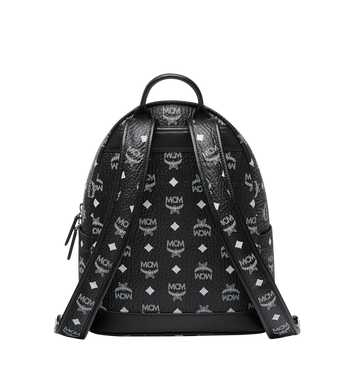 MCM Stark White Logo Backpack in Visetos MMK8SVE49BV001 AlternateView4