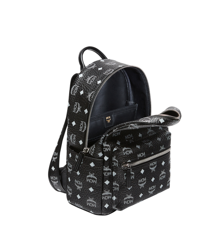 MCM Stark White Logo Backpack in Visetos MMK8SVE49BV001 AlternateView5