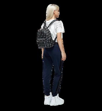 MCM Stark White Logo Backpack in Visetos Alternate View 6